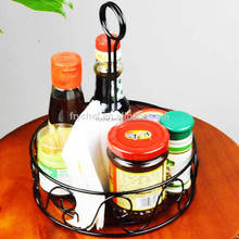 Kitchen Table Condiment Caddy, Metal Table Condiment Caddy organizer, Kitchen Caddy Basket Picnic Caddy Basket