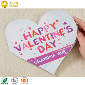 Lovely laser cutting heart shaped handmade best wishes greeting cards