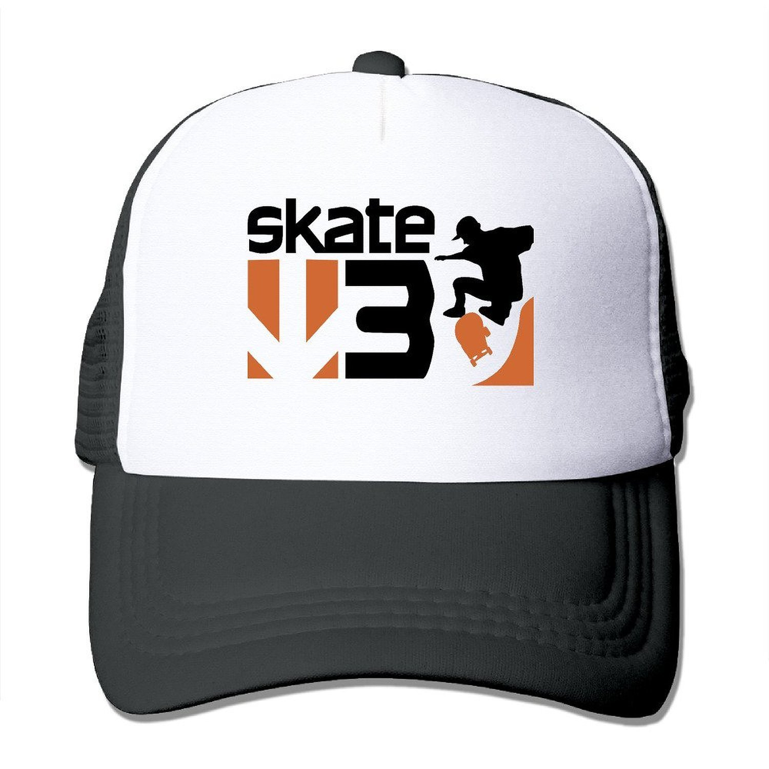 Get Quotations · AEFYHA Skate 3 Game Logo Adjustable Mesh Baseball Hats Caps 6952ee0ac61