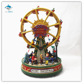 xmas ferris wheel happy people with led light music - Christmas Ferris Wheel Decoration
