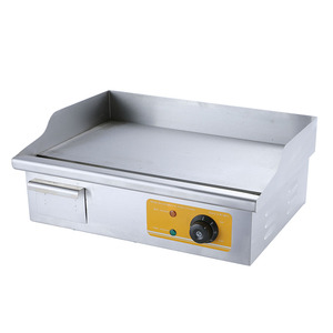 Countertop Stainless Steel Flat Plate Commercial Electric Grill Griddle