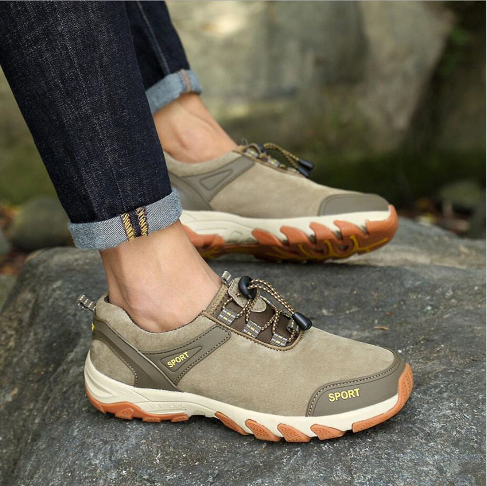 SAFETY SHOES fashion winter outdoor climbing man leisure leather shoes GS-D0017
