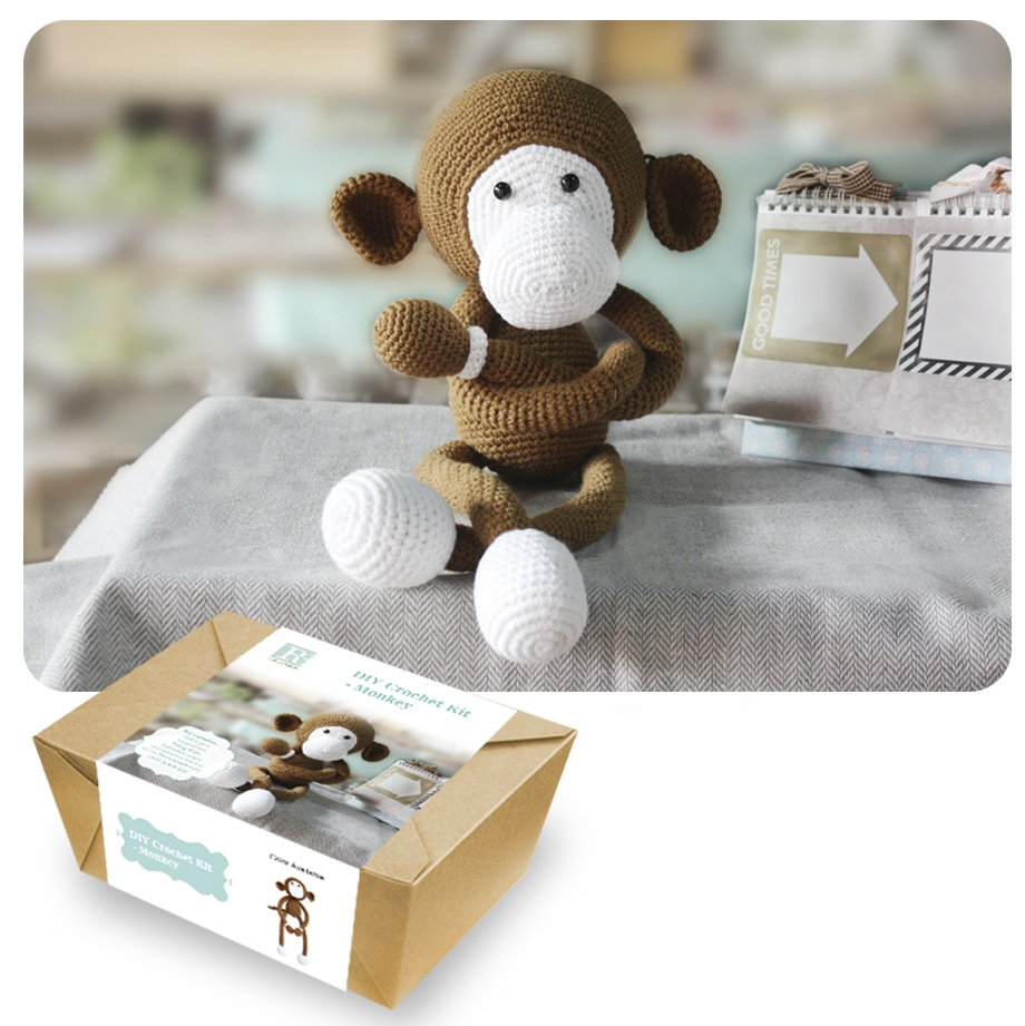 Cute Animal Bunny DIY Knitting kit DIY Crochet Kit
