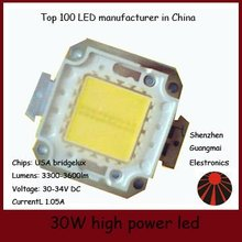 30W cob led bridgelux chip