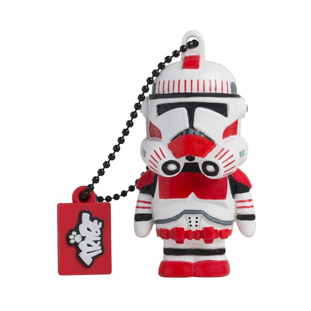 Tribe Fd007417 Disney Star Wars Pendrive Figure 8 Gb Funny USB Flash Drive 2.0 Memory Stick Data Storage, Keyholder Key Ring, Shock Trooper,