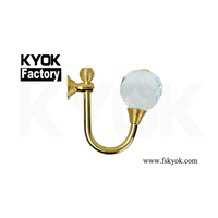 KYOK china made windows decoration curtain walls accessories stainless steel curtain hooks ,curtain tie back hooks