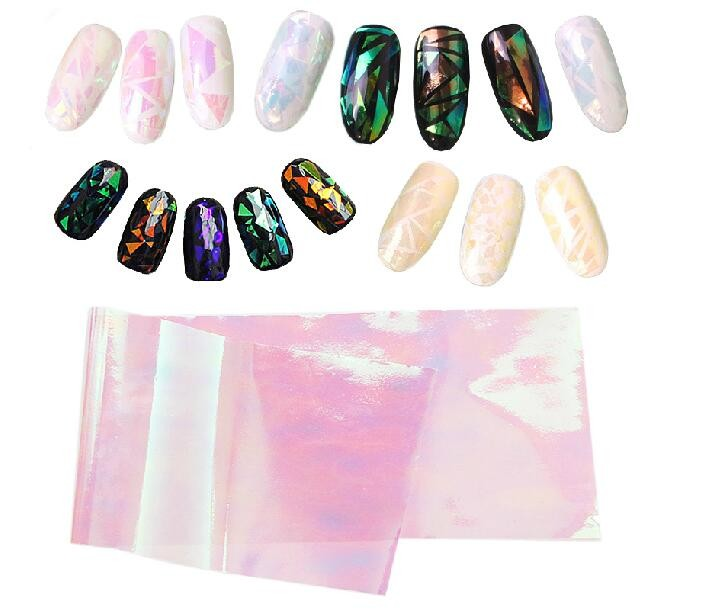 Wholesale Nail Art DIY Stickers Magic Stained Glass Nail Foil