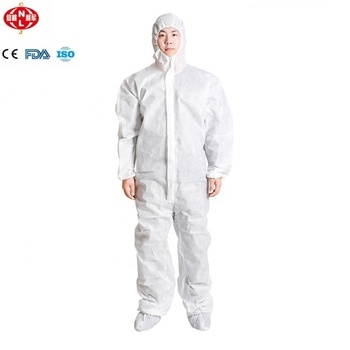 Non-woven disposable coverall protective clothing with FDA,ISO13485,CE for cleaning room, lab, construction
