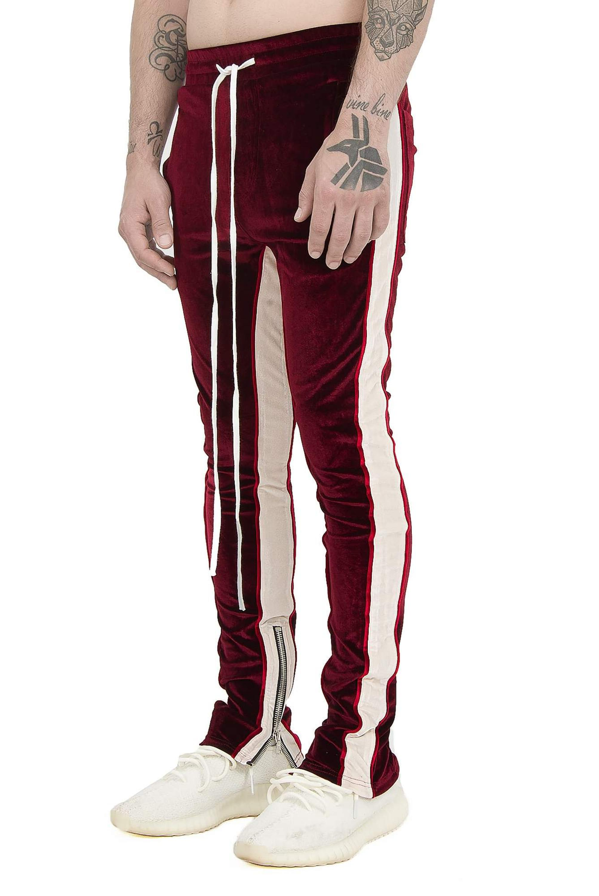 Wholesale Custom Street Fashion Velour Tracksuits Men