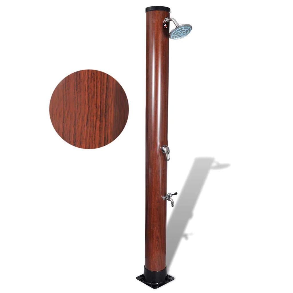 Get Quotations Festnight Wooden Outdoor Solar Shower Stand Portable Temperature And Pressure Adjule Garden Mobile Water For