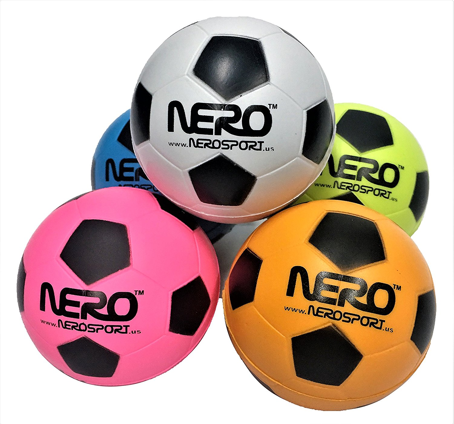 Nero NS-RS High Bounce Rubber Soccer Futbol Toy Ball 2.5 inch Skills Development Toy Great For the Streets Park Back Yard Agility Ball Bulk Price Birthdays Gifts Summer Ball