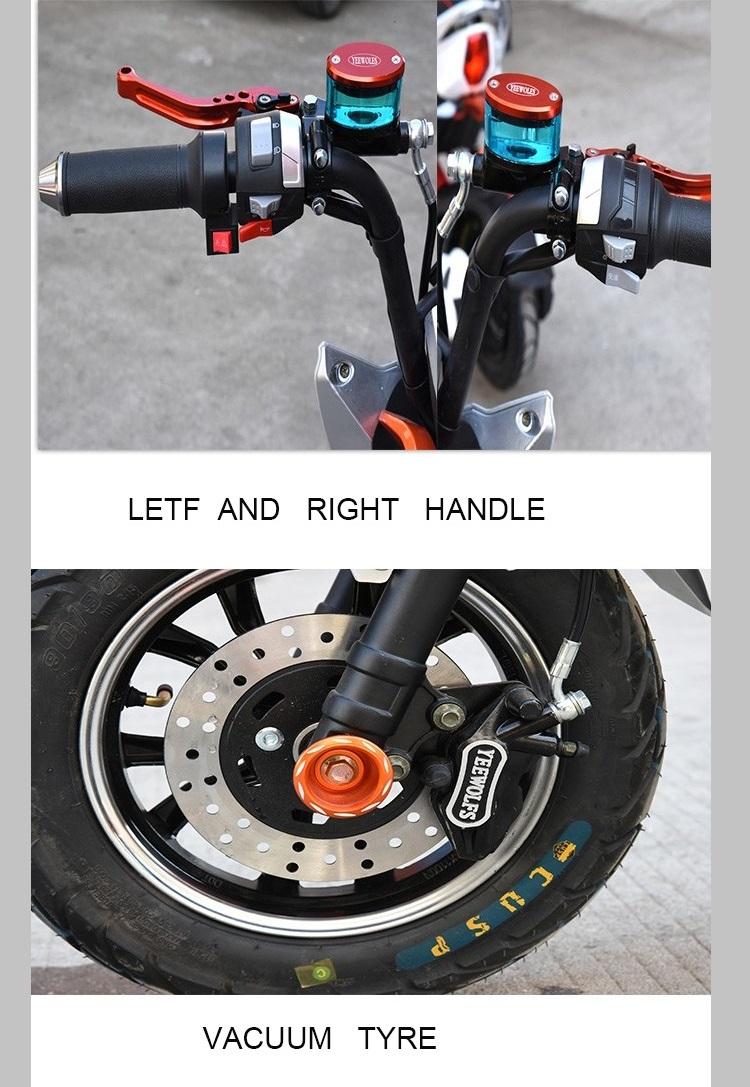 China fabricante 2 asiento eco scooter eléctrico para la venta
