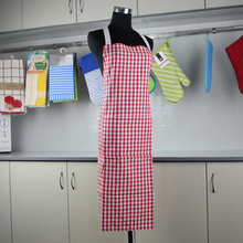 Check weaving cotton printing chef cooking apron