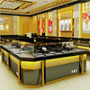 High-end elegant glass cabinet, glass display showcase and jewelry shop kiosk