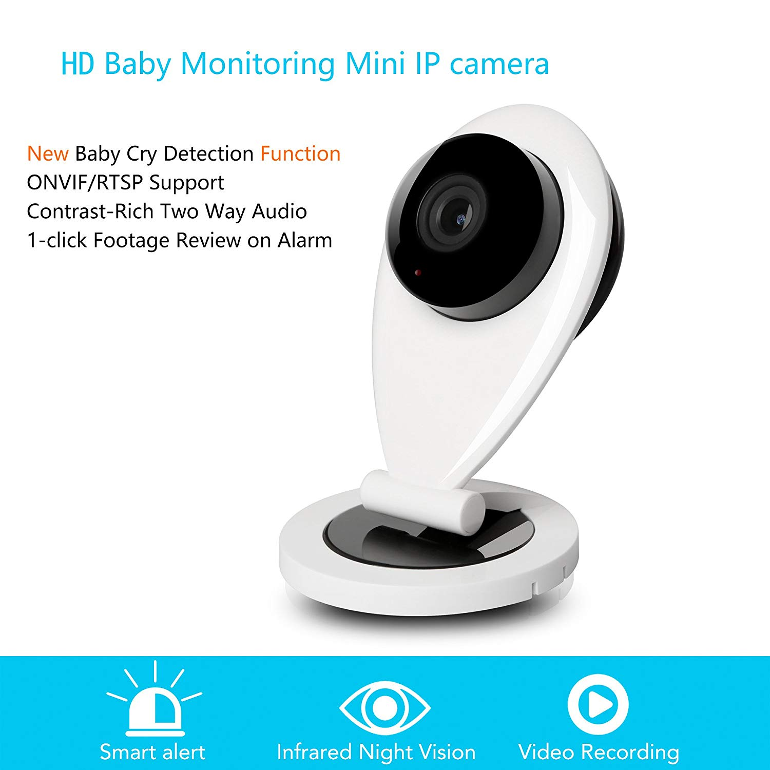 914ce558e3153 Get Quotations ·  Baby Cry Detection  UnionCam Q2 Pro HD Wireless Security  Camera