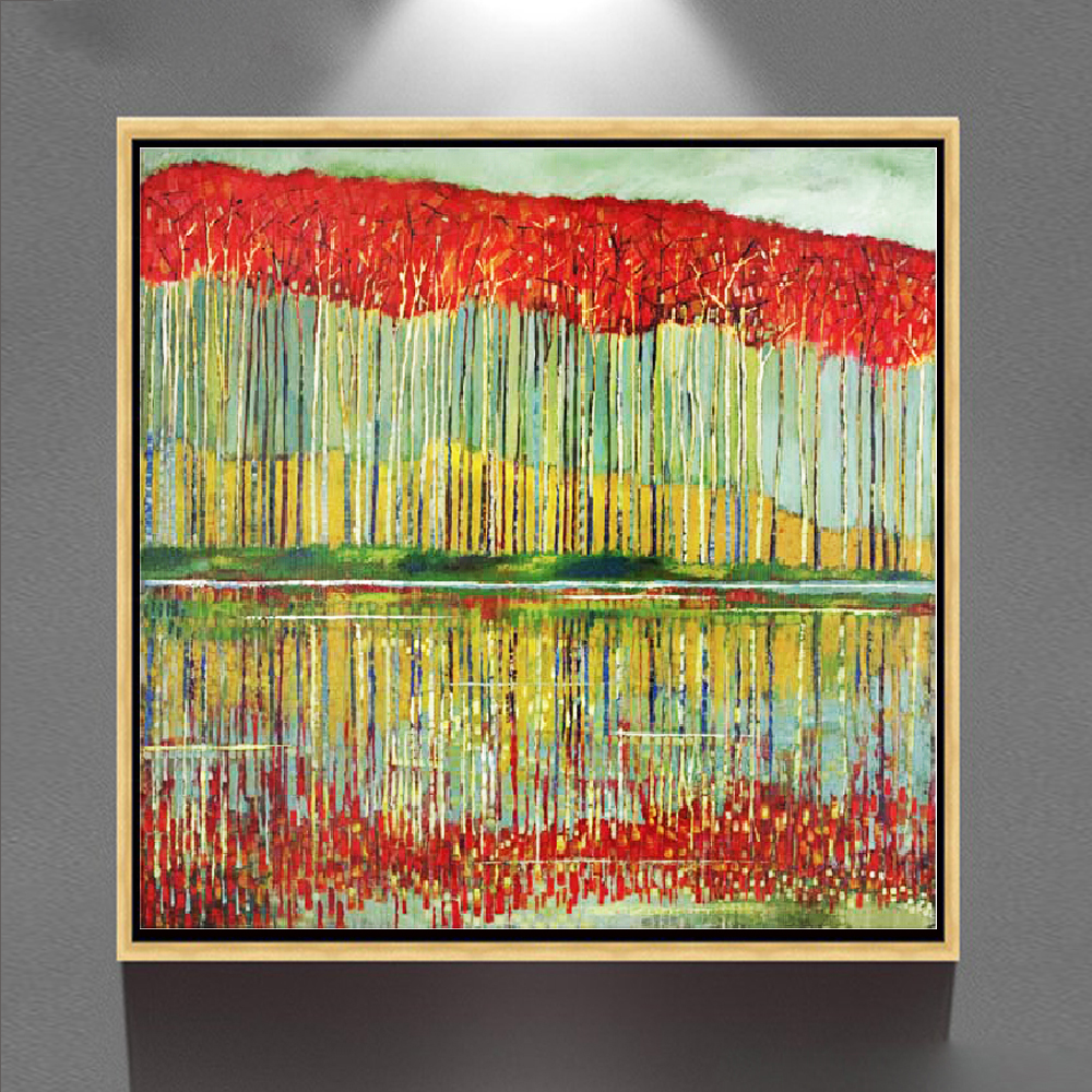 Village Scenery Painting Beautiful Living Room Art Decor Canvas Paintings Gz 303