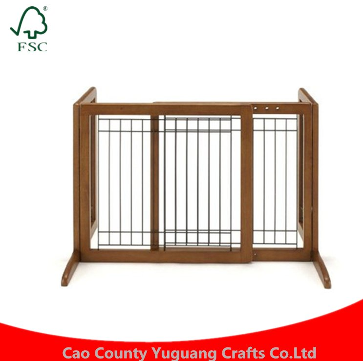 Custom Christmas Indoor Dog Canine Wooden Pet Gate