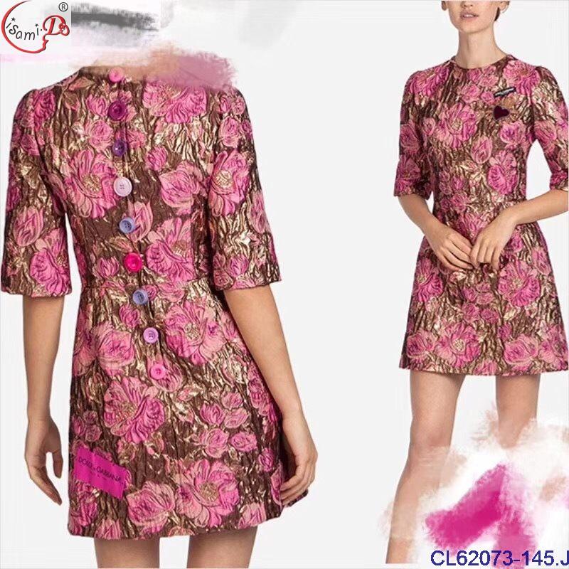 CL62073 luxury Europe fashion design brocade Jacquard classical royal family dress cloth fabric