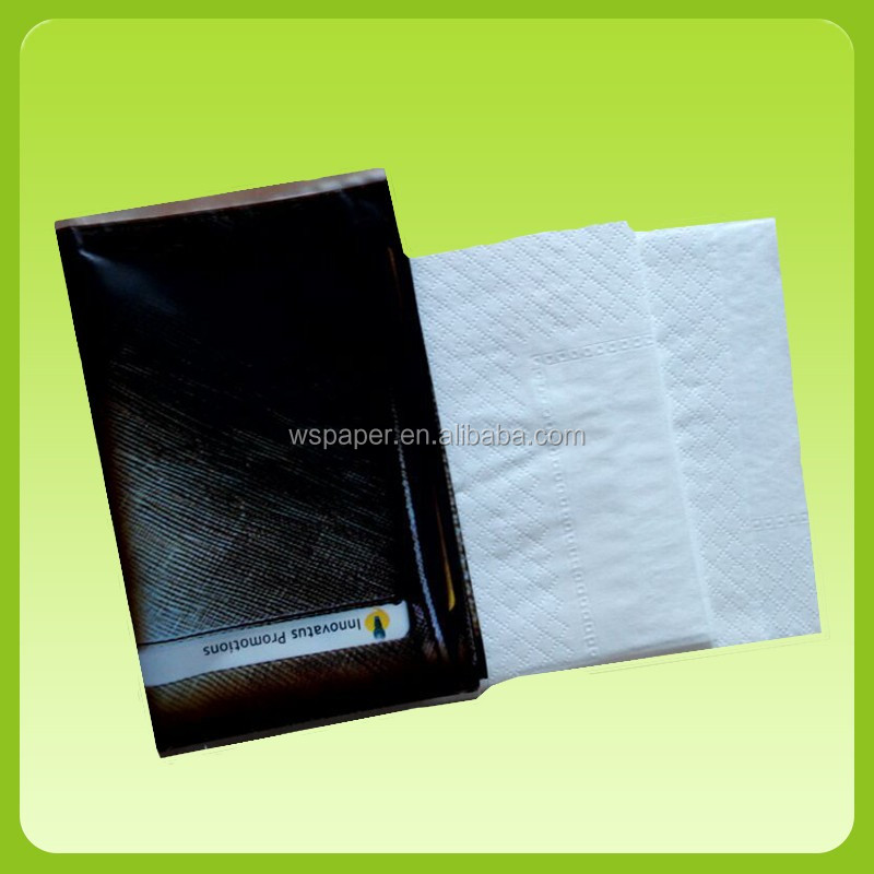 Customized printed pocket facial tissue  3 ply wallet tissue mini pocket tissue