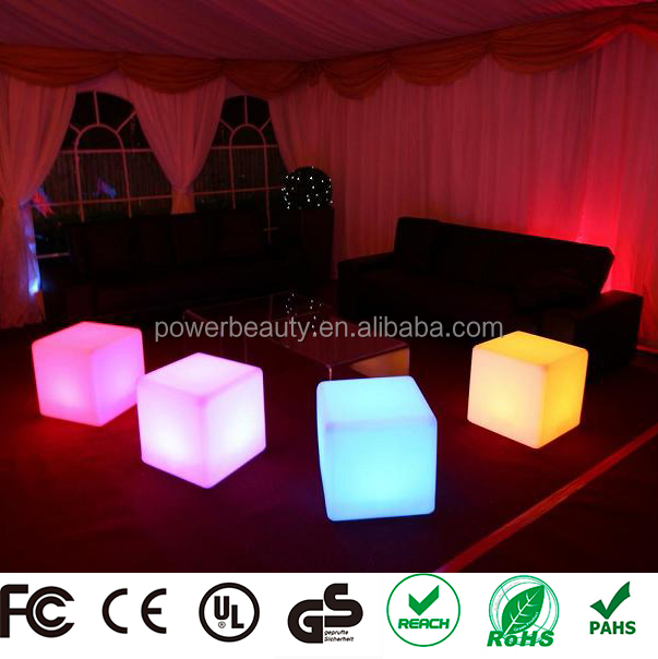 Lounge Furniture Patio Furniture Night Club 3D LED Cube Seating