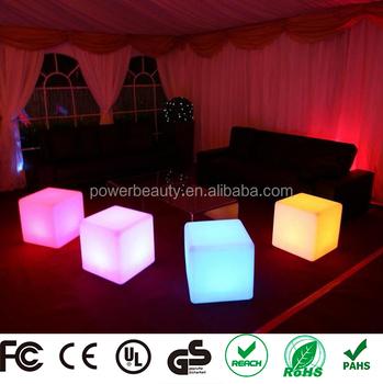 Salón Muebles De Patio Night Club 3d Led Cubo Asiento - Buy Product ...