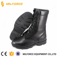 MILFORCE - black combat boots with direct molded rubber sole