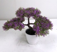 high quality low cost artificial podocarpus bonsai tree for table decoration