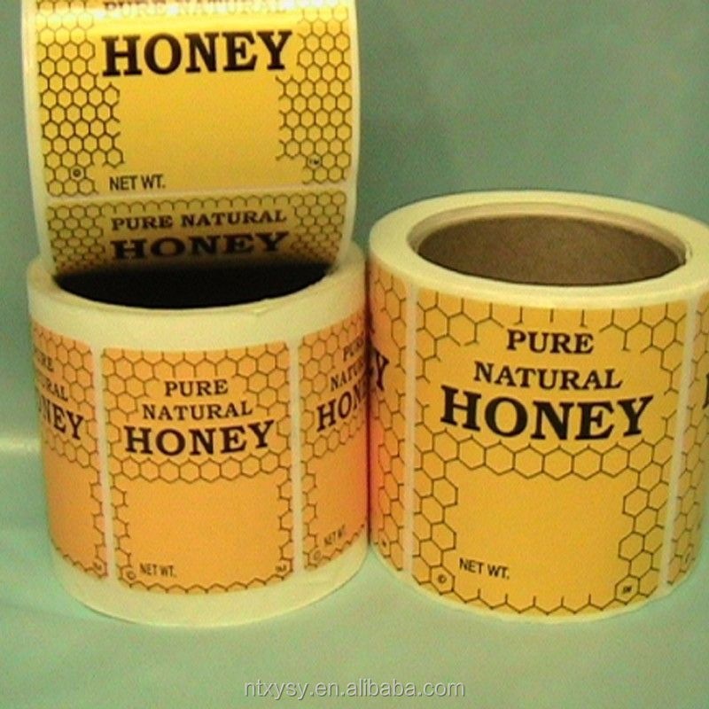 Honey Food Private Stickers Packaging & Printing Labels for Glass Jars