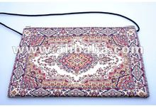 Woven rug bag with shoulder strap large size