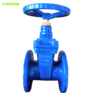 pn10 16 25 flanged BS5163 DN 50 80 100 200 300 400 500 600 cast ductile iron reselient seated gate valve with NRS