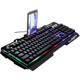 Wired usb notebook backlight mechanical feel metal light gaming computer keyboard
