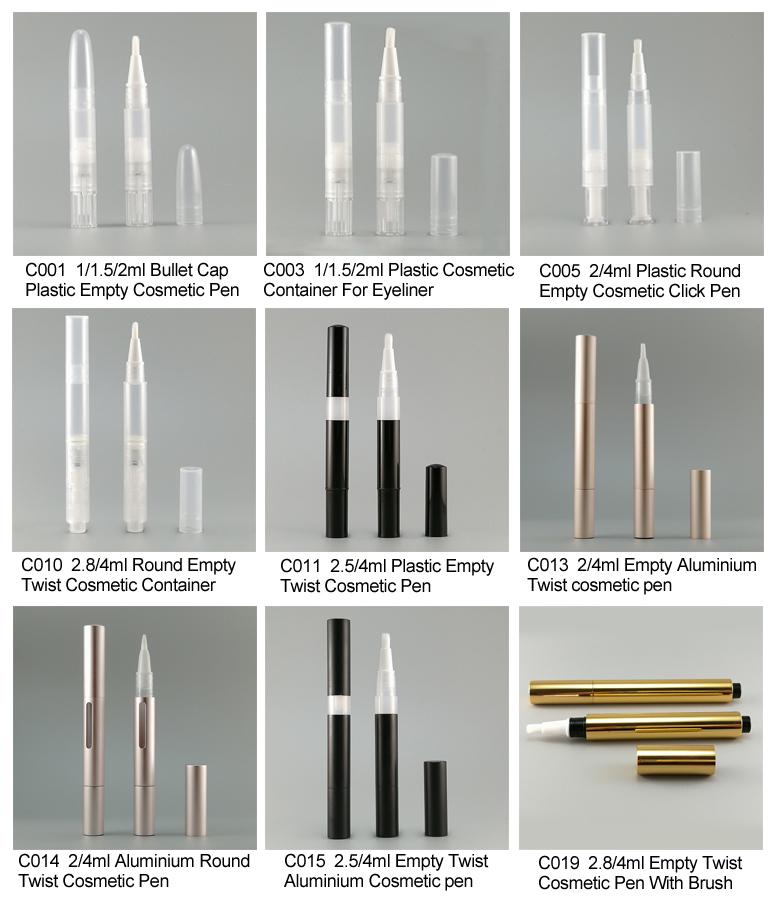 1,5 мл 2 мл 4 мл оптовая продажа высокое качество прозрачный пластик твист Косметическая ручка для воздуха подушки губ глазури
