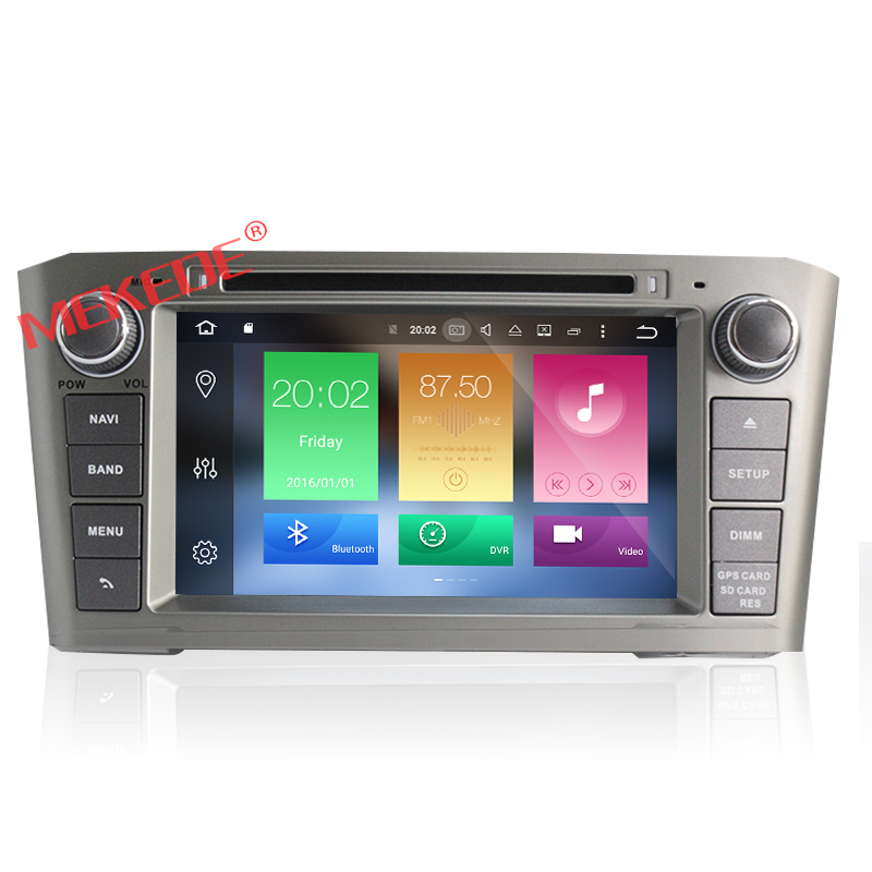 car dvd player Android 7.1.1 Two din for Toyota Avensis 2002-2008 Radio BT WIFI