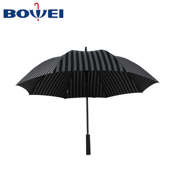 Promotional Wholesale Fashion Cheap Outdoor Sport Striped Fully-automatic Golf Umbrella Big Size