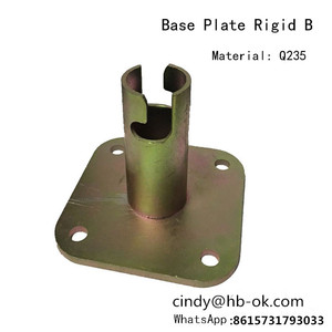 High quality paint base jack plate for steel pipe scaffolding