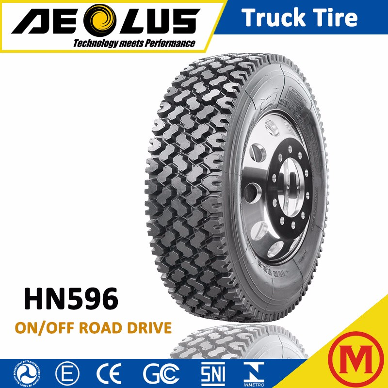 AEOLUS Windpower HN596 China Cheap 11R 22.5 11R24.5 Heavy duty TBR Tyres for sale Radial Truck Tire