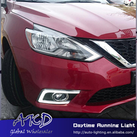 Car Styling LED Daytime Running Light for Sentra new sentra 2016 LED DRL Signal Fog Light Cover Front Lamp Auto Parts