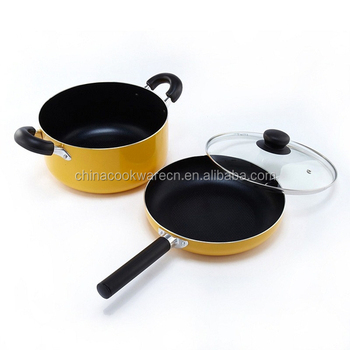Decorative Mango Series Aluminum Cookware Set