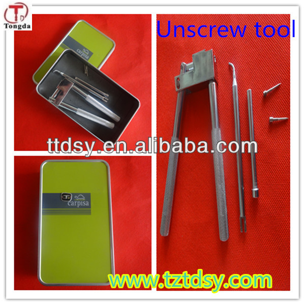 TD top quality locksmith safe tools for car key, auto key unscrew tool factory price