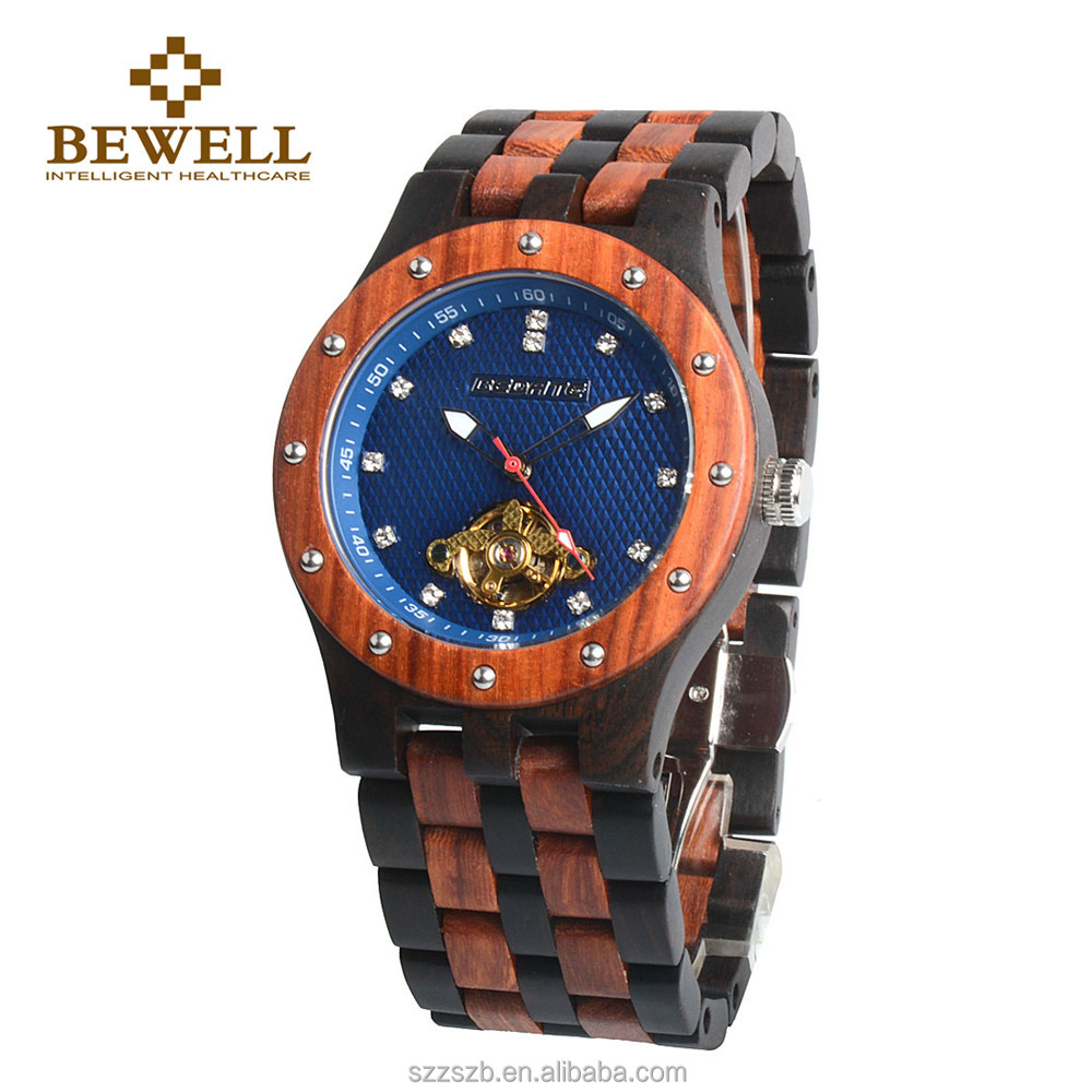 2017 New Arrival Classical 100% Natural Wooden Man Mechanical OEM Automatic Watch
