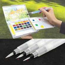 2015 3 Sizes Refillable 5pc Pilot Water Brush Ink Pen for Water Color Calligraphy Drawing Painting