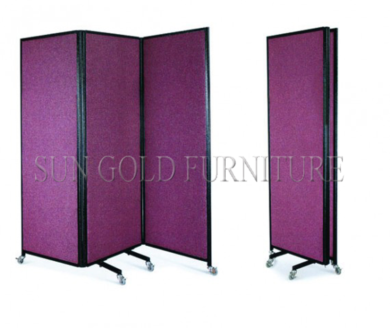 Modern new fashion simple office furniture used office for Sliding partition walls for home
