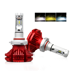 Car Electric Conversion Kits 50W Yellow Amber X3 Three Colors 12V Hir2 880 9012 9006 H13 H4 H7 Led H4 Headlights Bulbs