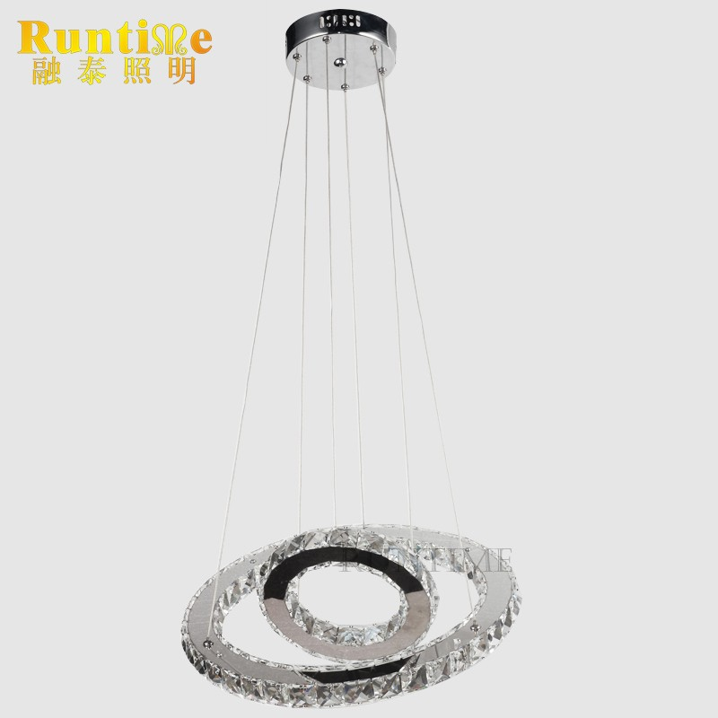 RT1876 Two Rings Modern Crystal LED Pendant Lamp