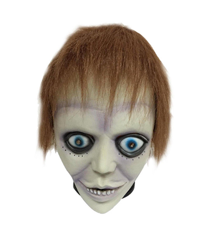 micrkrowen Halloween party cosplay mask Purple bad boy emulsion headgear wig
