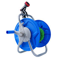 expandable garden hose reel portable high pressure sprayer metal connector with Hose stand reel cart
