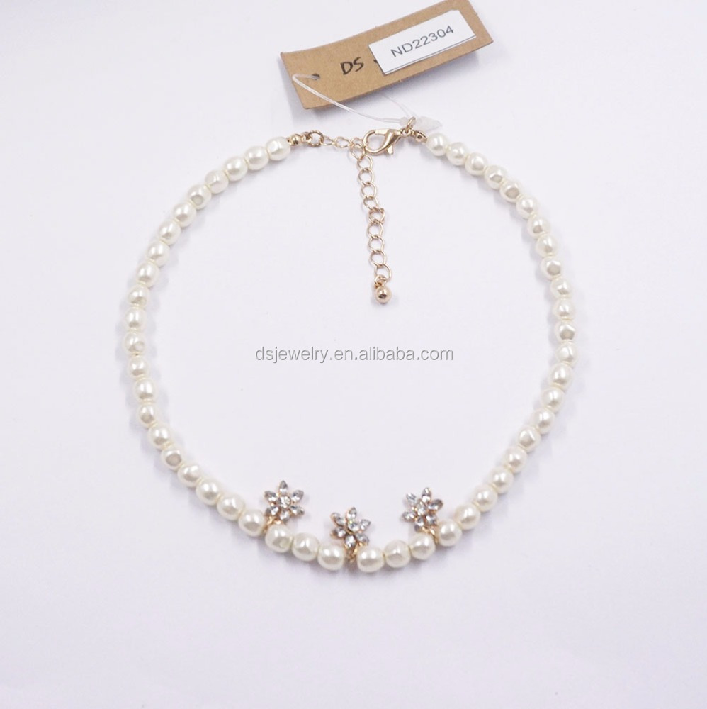 Wholesale rosary beads choker freshwater tahitian pearl necklace