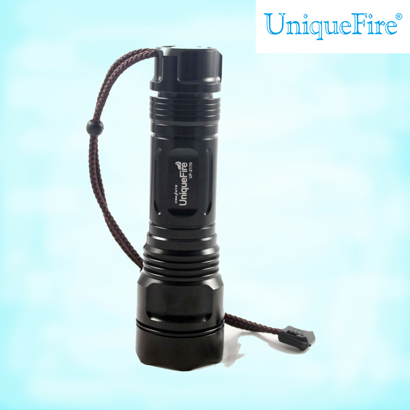 UniqueFire the leds police flashlights 26650 high power search light torch