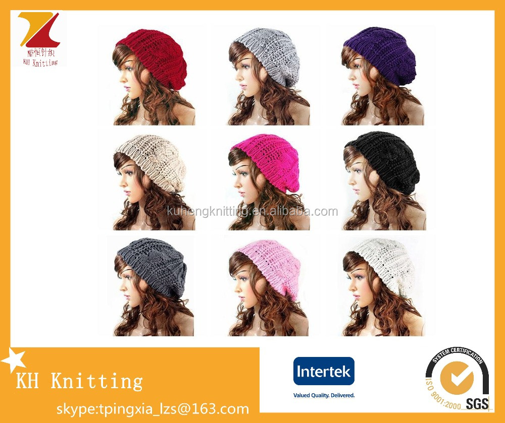 Hotselling knit ladies wool beret hat wholesales