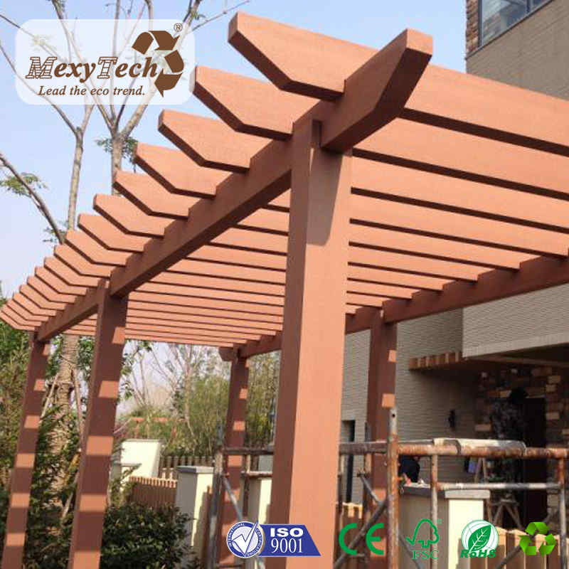 Outdoor Beach Wpc Wooden Sunshade Pergola